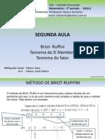 Segunda Aula Briot Ruffini