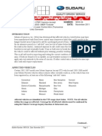 Subaru WVX34 Bulletin