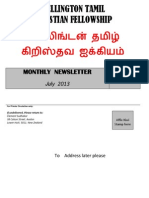 Wellington Tamil Christian Fellowship News - July 2013