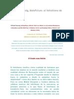 """Michael Taussig """"El Fetichismo del Estado"""""""
