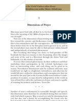 Dimensions to Prayer