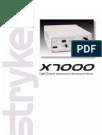 Stryker X7000 Manual