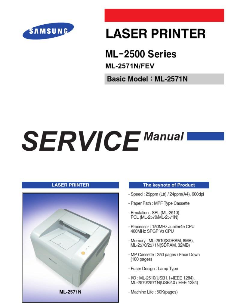 SAMSUNG-ML-2571n-Service-Manual.pdf | Electrostatic Discharge | Flash Memory