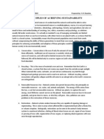Principles of Achieving Systainability