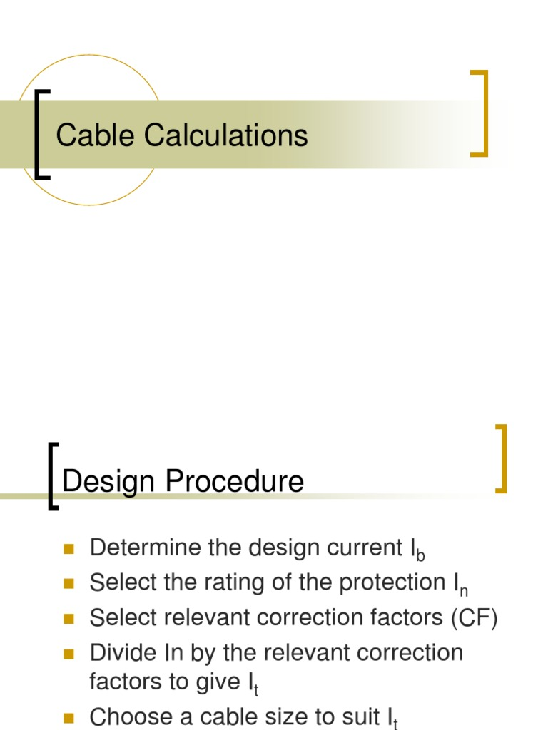 Comfortable How To Choose Cable Size Contemporary - Simple Wiring ...