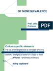 Types of Nonequivalence