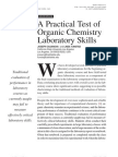 Springer - Jchedr 010104 - A Practical Test of Organic Chemistry Laboratory Skills