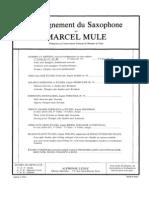 Marcel Mule Scale