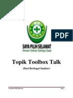 Topik Toolbox Talk