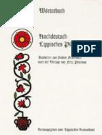 WÖRTERBUCH HOCHDEUTSCH - LIPPISCH PLATTDEUTSCH