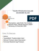 Teori Produksi Dalam Ekonomi Islam