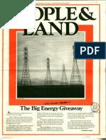 People & Land - Volume 1 Number 2 - Winter 1974 OCR Reduced