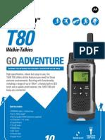 Motorola TLKR T80 Specification Sheet