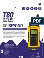 Motorola TLKR T80 Extreme Walkie Talkie Specification sheet