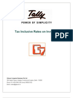 User Manual With FAQs-Tax Inclusive Rates on Invoices