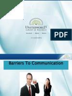 Barriers to Communication Presentation - Unitedworld School of Business