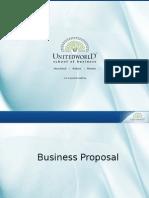 Business Proposal Presentation - Unitedworld School of Business