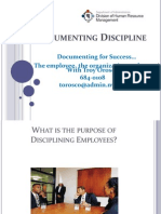 Documenting Discipline