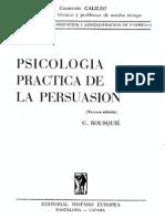 Bousqué, G. - Psicología Práctica de la Persuasión