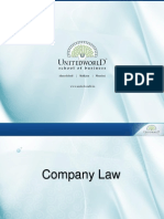 Company Law Presentation - Unitedworld School of Business