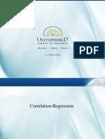 Correlation & Regression - 3  Presentation - Unitedworld School of Business