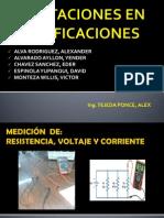 MEDICIÓN  DE VOLTAJE, CORRIENTE Y RESISTENCIA (1)