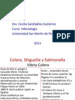Clase 1.-Cólera, salmonelosis, shigellosis