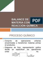 BALANCE DE MATERIA CON REACCIÓN QUÍMICA