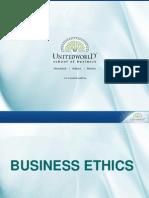 Ethics Presentation - Unitedworld School of Business