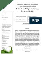 Laguna de Tultepec-Desecacion