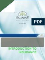 Insurance Basics Presentation - Unitedworld School of Business