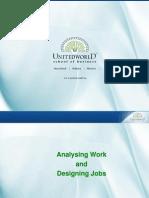 Job Analysis Presentation - Unitedworld School of Business