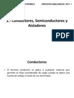 Tema 2, Conductores, Aisladores y Semiconductores