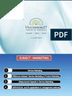 Marketing Presentation - Unitedworld School of Business