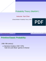 Overview 541 Probability Theory