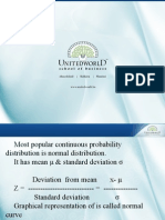 Normal Distribution Presentation - Unitedworld School of Business