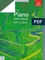 Abrsm Piano Grade 1 2011 2012
