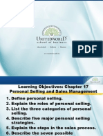 Personal Selling & Sales Management Presentation - Unitedworld School of Business