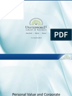 Personal Values Presentation - Unitedworld School of Business
