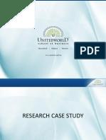 R.M case study Presentation - Unitedworld School of Business