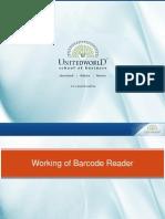 Working of barcode reader Presentation - Unitedworld School of Business