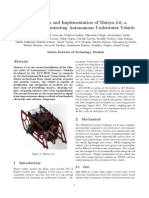 Robosub Design Document Matsya2.0