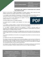 Etat de la déontologie dans le champ sanitaire - F.Séval