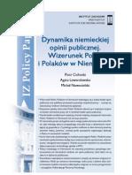 IZ Policy Papers nr 8 - Dynamika niemieckiej opinii publicznej. Wizerunek Polski i Polaków w Niemczech