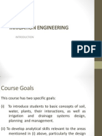 Introduction Irrigation Engineering