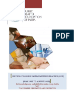 Salient Features of the Certificate Course in Immunization Practices