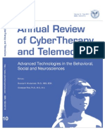 Annual Review of CyberTherapy and Telemedicine, Volume 10, Summer 2012