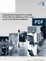 Capacity development for quality public service delivery at the local level in the Western Balkans
