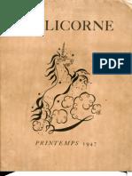 La Licorne Printemps 1947