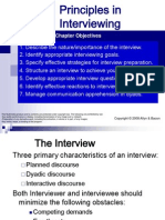 Principles in Interviewing